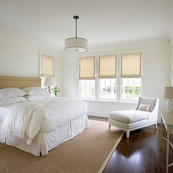 Burlap Headboard, Transitional, bedroom, Barbara Waltman Design