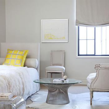 Gray and Yellow Bedrooms, Contemporary, bedroom, Betsy Brown Interiors