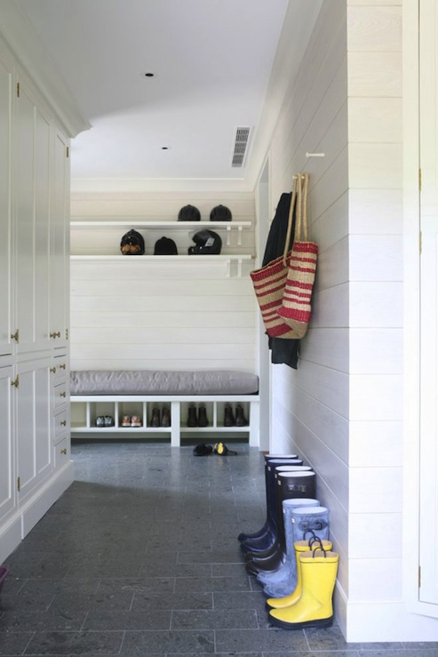 Mudroom bench design ideas for Mudroom floors
