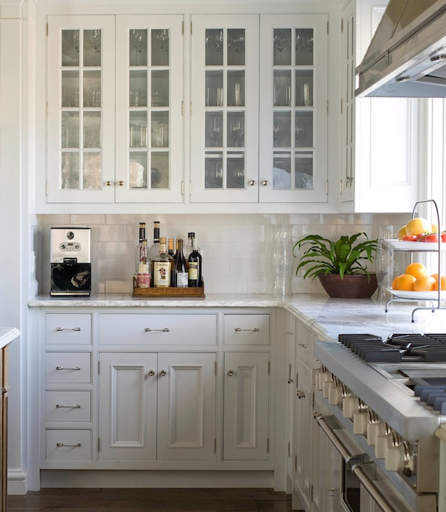 White Kitchen Cabinet Hardware: Glass Front Kitchen Cabinets