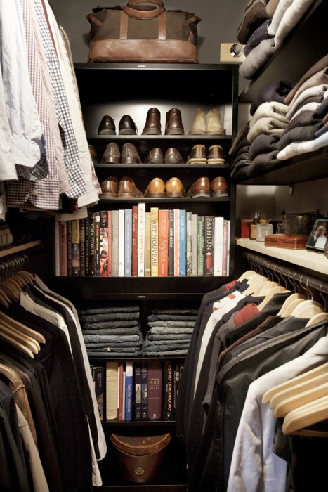 mens closet ideas - transitional
