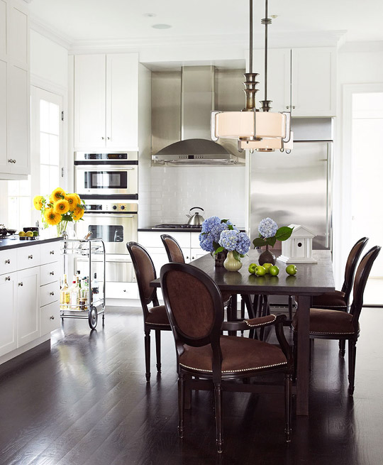 Connected To The Kitchen Dining Rooms And Eating Area Designs: Velvet Dining Chairs