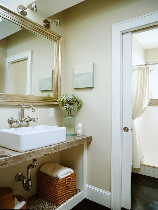 Recycled bathroom vanity ideas : Reclaimed wood bathroom vanity design ideas