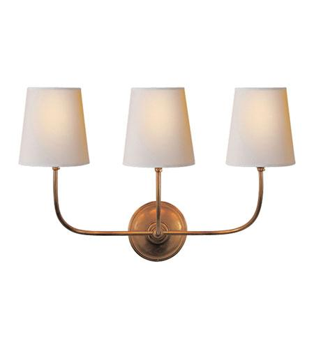 Triple Hand Rubbed Antique Brass Sconce