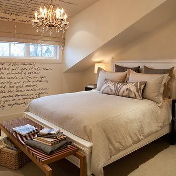 Attic Bedroom, Transitional, bedroom, Kelly Deck Design