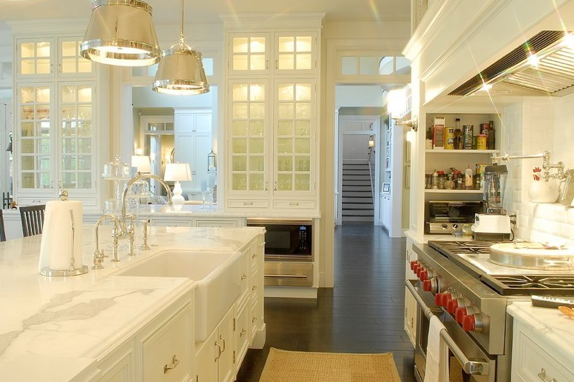 Vintage White Stove - Eclectic - kitchen - The Glitter Guide