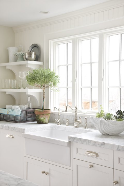 White Kitchen Farm Sink kitchen white apron sink design ideas
