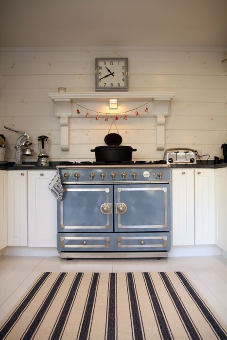 La Cornue Cornufe Stove Provence Blue Cottage Kitchen