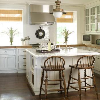 Black Windsor Bar Stools Transitional Kitchen Phoebe