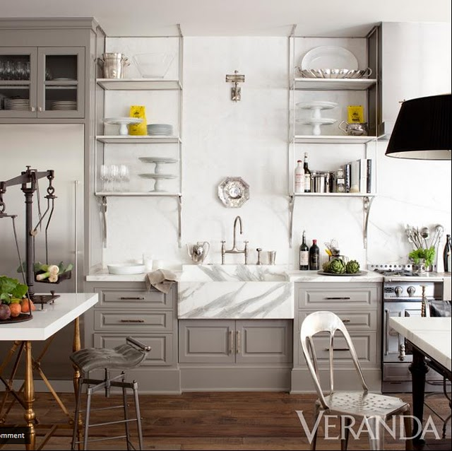 Kitchen With Open Cabinets: Benjamin Moore