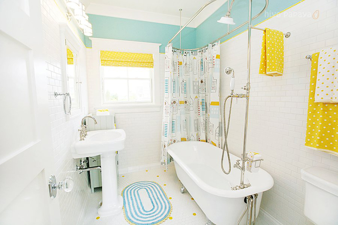 Clawfoot tub design ideas for Tiles for kids bathroom