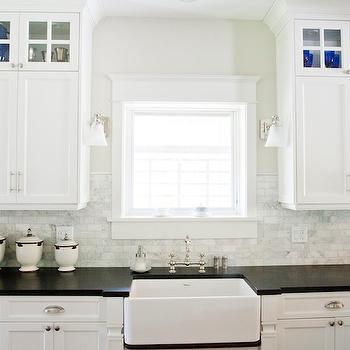 Honed Black Granite Countertops, Traditional, kitchen, Tiek Built Homes