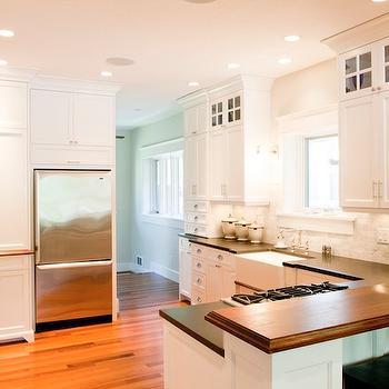 Raised Breakfast Bar, Traditional, kitchen, Tiek Built Homes