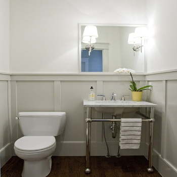 Grey Walls, Transitional, bathroom, Benjamin Moore Gray Owl, Caitlin Creer Interiors