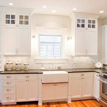 Honed Black Granite, Traditional, kitchen, Tiek Built Homes