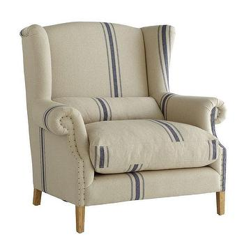 Grand Wingback Chair, Chairs, Wisteria