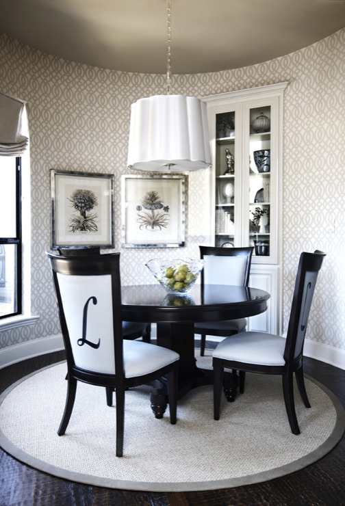 Barbara Barry Scallop Chandelier Transitional Dining Room - Barbara barry dining table parsons