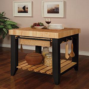 Farmhouse Butcher Block Kitchen Island Dining Room Furniture Furniture World Market