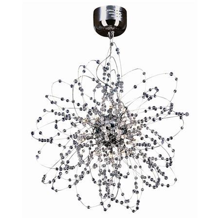 and Crystal Pendant Ceiling Chandelier - 18 Lt. - Shades of Light