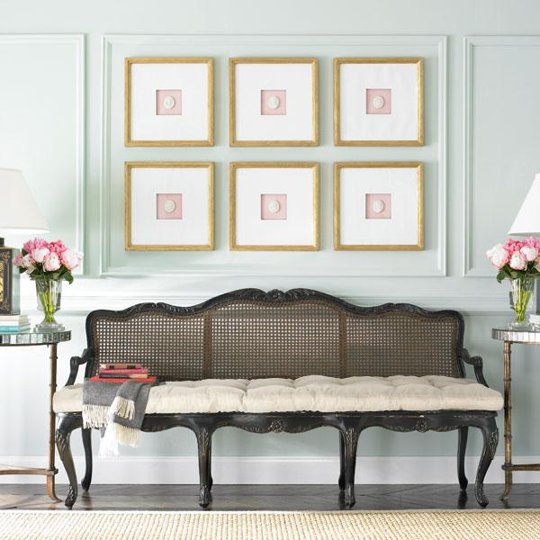 French Country Hallway Ideas Decor: Distressed French Country Bench