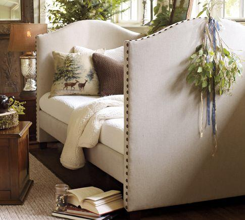 Raleigh Upholstered Daybed With Trundle Pottery Barn