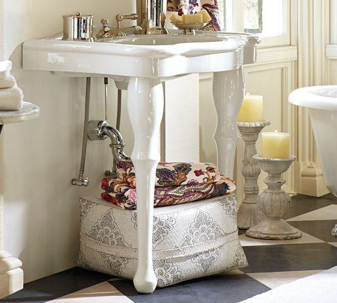 Parisian Pedestal Single Sink Console Pottery Barn