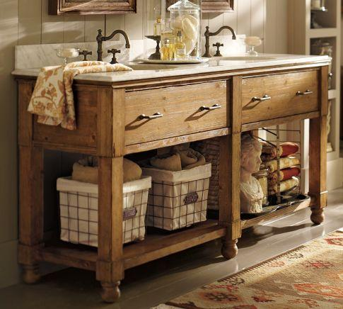 William Double Sink Console Pottery Barn