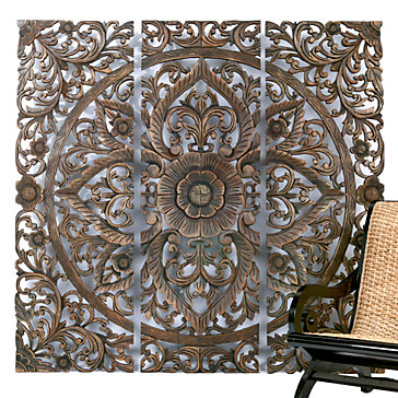 Z Gallerie Carved Sanctuary Panel Look 4 Less