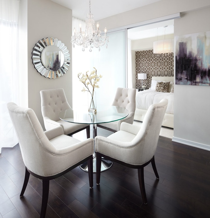 White Tufted Dining Chairs Contemporary Dining Room Lux Design