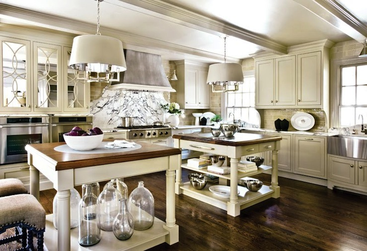 Double kitchen islands transitional kitchen design for Dual island kitchen designs