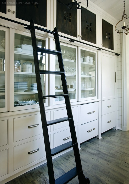 Glass Front Cabinets Country Kitchen Atlanta Homes Lifestyles