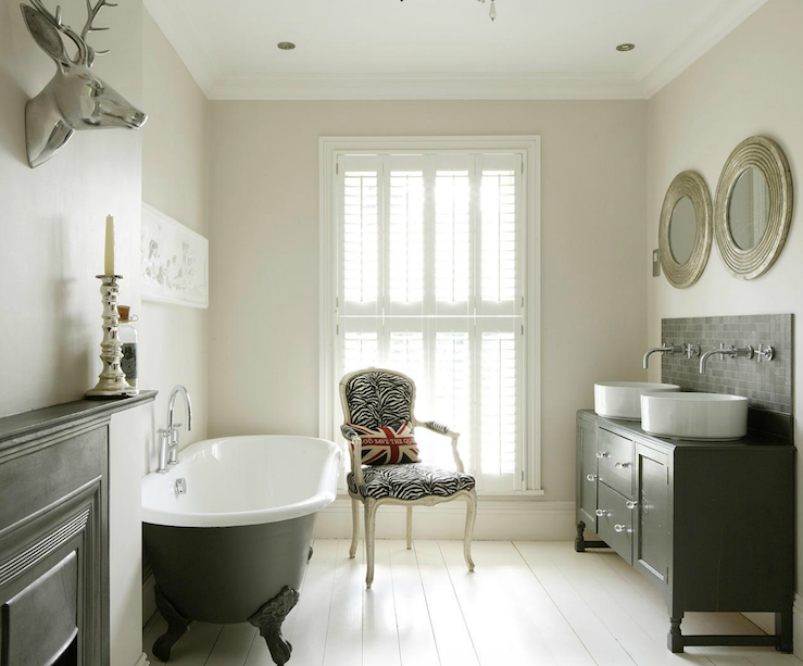 Clawfoot Tub Bathroom Design Eclectic Bathroom 1st Option