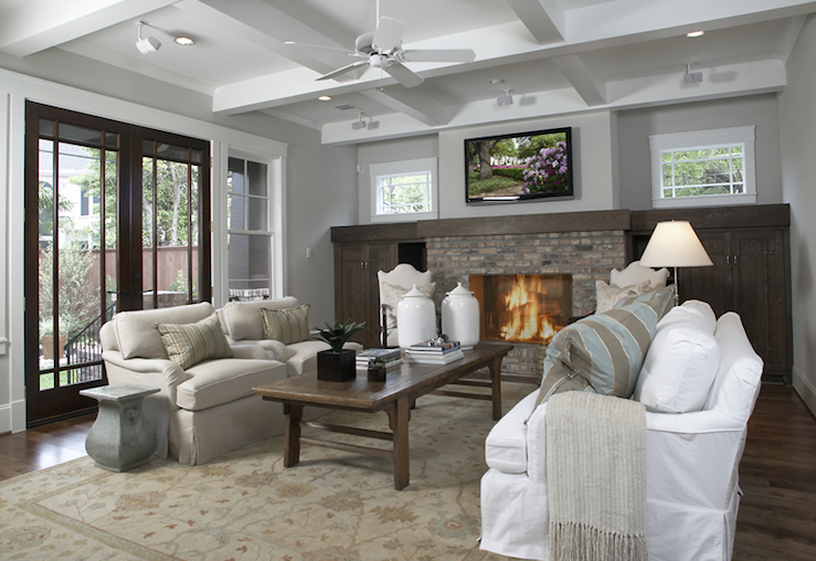 Craftman Living Room Traditional Ashley Goforth Design