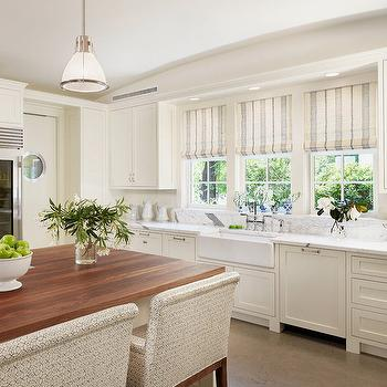 Striped Roman Shades Design Ideas