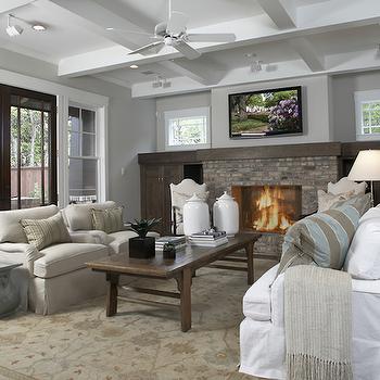 Craftman Living Room, Traditional, living room, Ashley Goforth Design