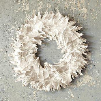 Feather Wreath, west elm