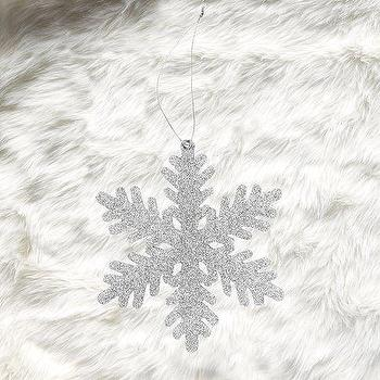 Glitter Snowflake Ornament, west elm