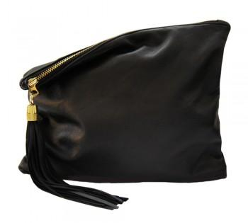 MadeByGirl, LULU LEATHER CLUTCH (BLACK)