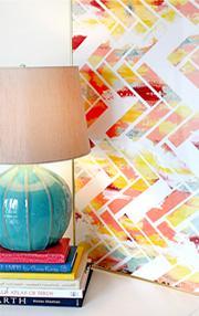 Wild Herringbone, Colorful Abstract Geometric Art