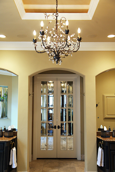 Antique Mirrored French Doors Design Ideas