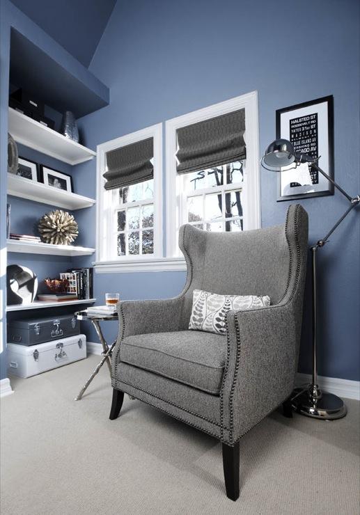 Blue Wingback Chair Design Ideas