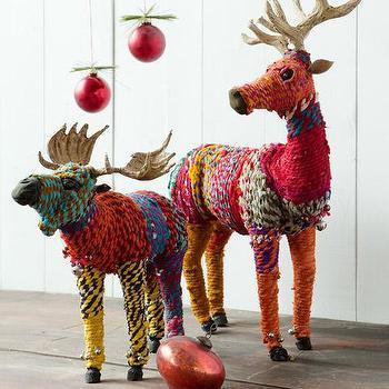 Chindi Reindeer & Moose, Christmas, Olive & Cocoa