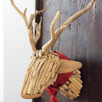 Driftwood Reindeer, Christmas, Olive & Cocoa