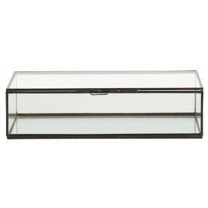 f7fc1a9f666 Amazon.com  Arteriors Fuller Small Glass Document Box  Home   Garden