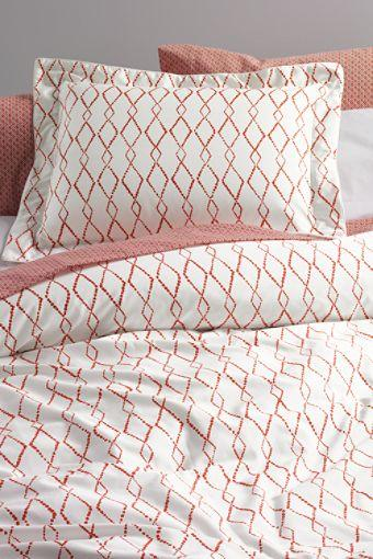 280 Count No Iron Sa Bayfield Diamond Lattice Duvet Cover Or Sham From Lands End