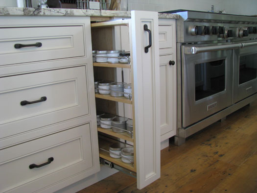 view full size - White Inset Kitchen Cabinets