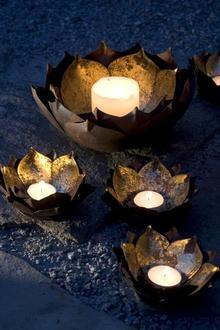 Lotus Flower Candle bowls, Shop Greige