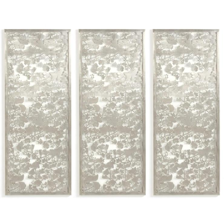 Metal Wall Plaque ginko metal leaf wall plaque set