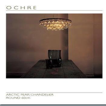 OCHRE, ARCTIC PEAR CHANDELIER<br>ROUND 60cm