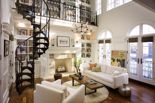 Living Room Design With Stairs: Petrie Apartment Sofa